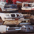 Stock Photo: Pile of scrap cars