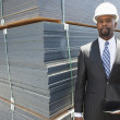 African American male contractor — Stock Photo #34012139