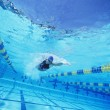 Swimmer in competition — Stock Photo