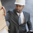 African American male contractor — Stock Photo #34013779