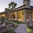 Stock Photo: Palm Springs haciendat dusk
