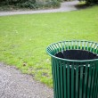 Trash can in park — Stock Photo