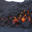 Glowing molten volcanic rock — Stockfoto #34016787