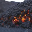 Glowing molten volcanic rock — 图库照片 #34016787