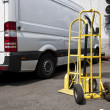 Stock Photo: Trolley and van