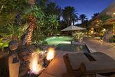 Luxury Villa at night time — Stock Photo