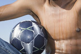 Man with ball — Stock Photo