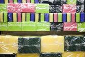 Multicolored sponges — Stock Photo
