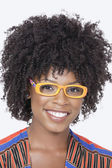 African American woman wearing glasse — Stock Photo