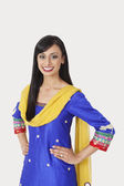 Indian woman in traditional wear standing — Stock Photo