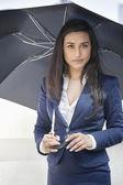 Paraguas de explotación empresaria india — Foto de Stock