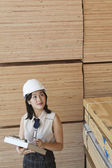 Female industrial worker — Stock Photo