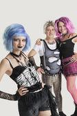 Female punk with senior couple — Stock Photo