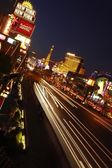 Las Vegas strip night shot — Foto Stock