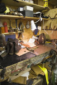 Shoemaker workshop — Fotografia Stock