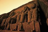 Colossi of Ramses II Great Temple of Ramses II Abu Simbel — 图库照片