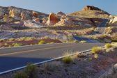 Desert road USA — Stock Photo