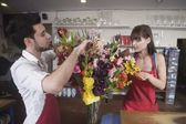 Two Florists working — Stock Photo