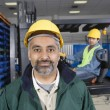 Man standing in factory — Stock Photo #34020129