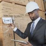 Постер, плакат: African American male contractor
