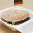 Hamburger with German flag — Stock Photo