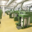 Spinning factory machinery — Stockfoto