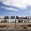 Rows of mailboxes in desert — Stock Photo #34025581