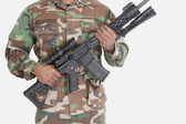 US Marine Corps soldier holding M4 assault rifle — Stock Photo