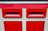Letter boxes saying 1st and 2nd Class — Stock Photo