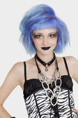 Female punk with dyed hair — Stock Photo