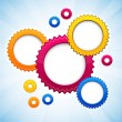 Colorful background with gear circles. — Stock Vector #12680422