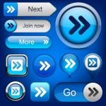 Forward high-detailed web button collection. — Stock Vector