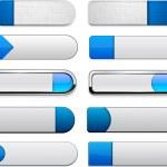 Blue high-detailed modern web buttons. — Stock Vector