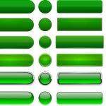 Green high-detailed modern web buttons. — Stock Vector