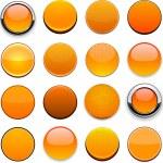 Orange high-detailed modern web buttons. — Stock Vector #12680722