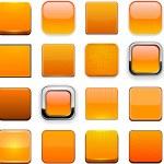 Orange high-detailed modern web buttons. — Stock Vector #12680729