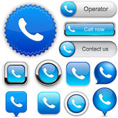Phone high-detailed web button collection. — Stock Vector