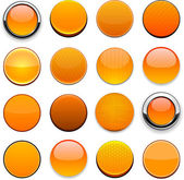 Orange high-detailed modern web buttons. — Stock Vector