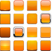 Orange high-detailed modern web buttons. — Stockvector