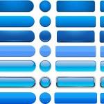 Blue high-detailed modern web buttons. — Stock Vector #13129011