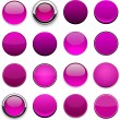Magenta high-detailed modern web buttons. — Stock Vector #13129040