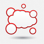 Cloud speech bubble. — Stock Vector