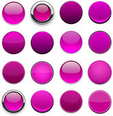 Magenta high-detailed modern web buttons. — Stock Vector