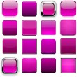 Magenta high-detailed modern web buttons. — Vector de stock #13991633