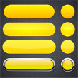 Yellow high-detailed modern web buttons. — Vector de stock