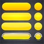 gul hög-detaljerad moderna webbläsare knappar — Stockvektor