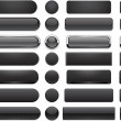 Black high-detailed modern web buttons. — Vector de stock #13991635