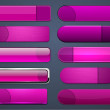 Magenta high-detailed modern web buttons. - Grafika wektorowa