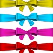 Stock Vector: Set of colorful bows.