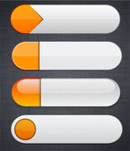 White and orange high-detailed modern web buttons. — Stock Vector
